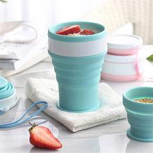 Kaffee Becher Reise Faltbare Silikon Tassen Klapp Wasser Tassen Tragbare Outdoor Handcup Versenkbare Faltbare Tee Tassen als Geschenk