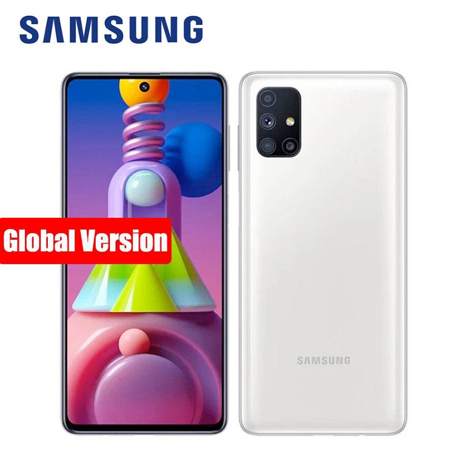 "Ursprüngliche Globale Version Samsung Galaxy M51 M515F-DSN Handy 128GB ROM 6GB RAM 6.7 ""7000mAh NFC snapdragon 730G Smartphone"