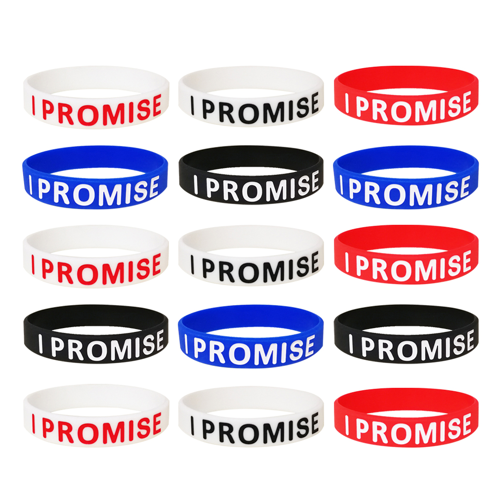 15pcs Letter Bracelet Fashion Cool Stylish Silicone Great Bracelet Party Favors Wrist Band Hand Band For Casual Gym Sports