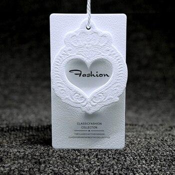 custom watermark paper clothing hang tag/hangtag for garment