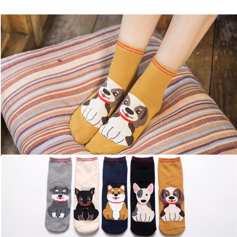—Clearance SaleMYORED Short Socks Calcetines Christmas-Gift Funny Women Cartoon Woman Students Ladiesß