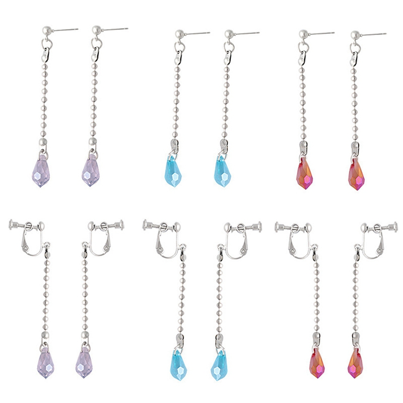 Purple1 kikoo 1 Pair Anime Hunter X Hunter Kurapika Ear Clip Earring Stud Dangle Cosplay Prop Handmade Earrings
