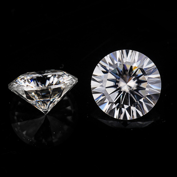 7.5mm 1.5 carats round 16 hearts and 16 arrows cut DEF white color moissanites loose gems stones Tested Positive