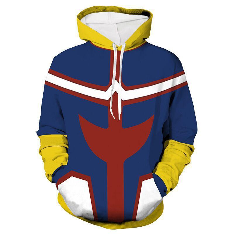 My Hero Academia Fatgum Cosplay Hoodie Zipper Jacket Sweatshirt Yellow Pullover