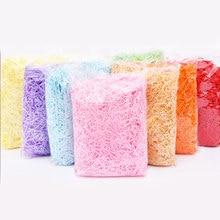 Renkli rendelenmiş kağıt hediye şeker kutuları dolgu kırışık kesilmiş kağıt Shred ambalaj hediye düğün doğum günü partisi dekorasyon yanadır