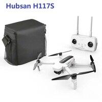 Hubsan H117S Zino-Dron cuadricóptero de control remoto, 5G, WiFi, 1KM, FPV, con cámara 4K UHD, de 3 ejes cardán, RTF, color blanco sin bolsa de almacenamiento, One B