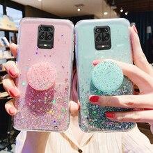 Transparent Bling Glitter Case For Xiaomi Redmi note 9S 9 S Case