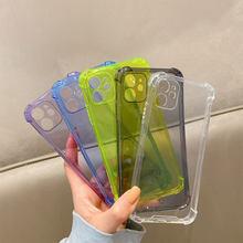 Objektiv Schutz Stoßfest Telefon Fällen Für iPhone 12 11 Pro Max Xs X Xr 6 7 8 Plus SE 2020 klar Silikon Fall Weiche Rückseitige Abdeckung