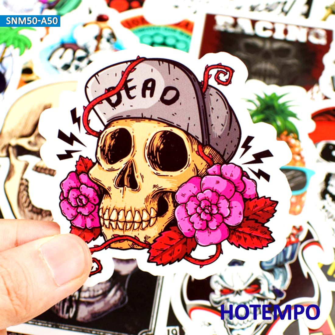 50pcs Spitfire Graffiti Dark Style Skull Horror Comics Stickers For Mobile Phone Laptop Luggage Guitar Skateboard Bike Stickers