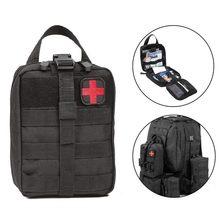 Pacote de cintura tático acampamento escalada saco preto caso emergência kits primeiros socorros água ao ar livre viagem pano oxford