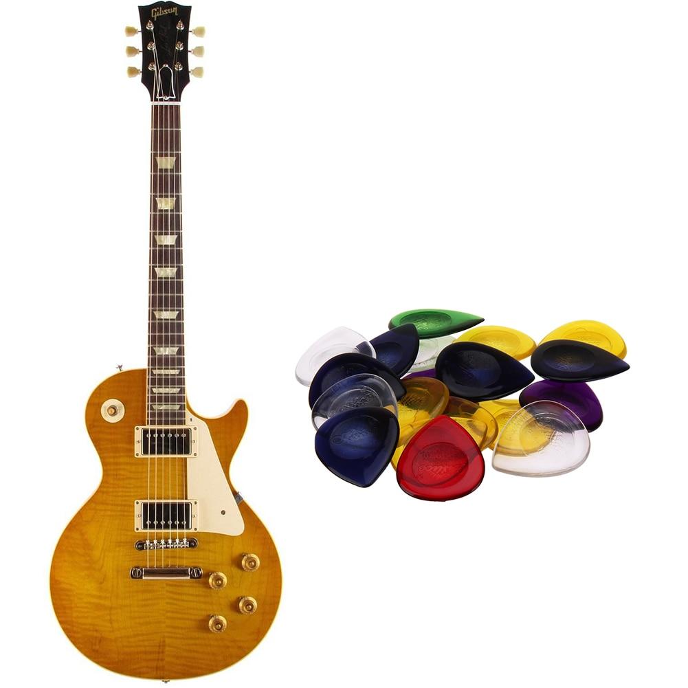 6pcs durable guitar picks for acoustic electric guitar bass clear plectrum YR