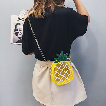 Small Transparent Jelly Package Crossbody Bag | Fresh Pineapple Shape Chain Message Shoulder Female Bag