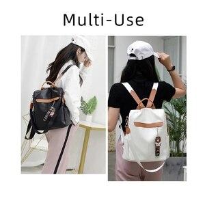Image 3 - 2020 nouvelle marque concepteur en cuir dames sac à dos sauvage qualité anti vol sac dames adolescent dames voyage sac de luxe sac à dos Mochil