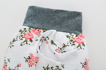 Previous Next Baby Girl's Floral Hoodie and Pants Set with Headband 5