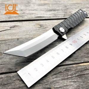 Image 1 - LDT Twosun Tanto سكين للفرد D2 شفرة الصلب مقبض السكاكين التكتيكية التخييم بقاء الصيد جيب الزعنفة سكين EDC أدوات