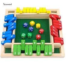 Dört kişilik dijital renkli zar kapat kutu tahtası oyun Deluxe dört taraflı masa oyunu seti Bar aile partisi oyunlar 4 türleri