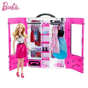 Original Barbie American 18 Inch Doll Fantasy Closet Beautiful Princess Hair Model  Princess Baby Toys Gift for Girl Children