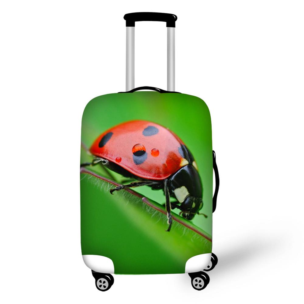 Ladybird Labybug Print Travel Accessories Suitcase Protective Covers 18-32 Inch Elastic Luggage Dust Cover Case Stretchable