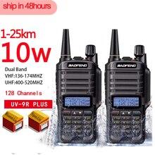 2 قطعة عالية الجودة 10W 25 كجم Baofeng UV 9R زائد هام راديو cb راديو comunicador للماء اسلكية تخاطب baofeng uv 9r زائد рация