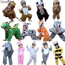 Umorden Children Kids Animal Costume Cosplay Dinosaur Tiger Elephant Halloween Animals Costumes Jumpsuit for Boy Girl(China)