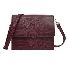 Women's Handbag 2019 Fashion New High Quality PU Leather Women Handbags Crocodile Pattern Shoulder Messenger Bag