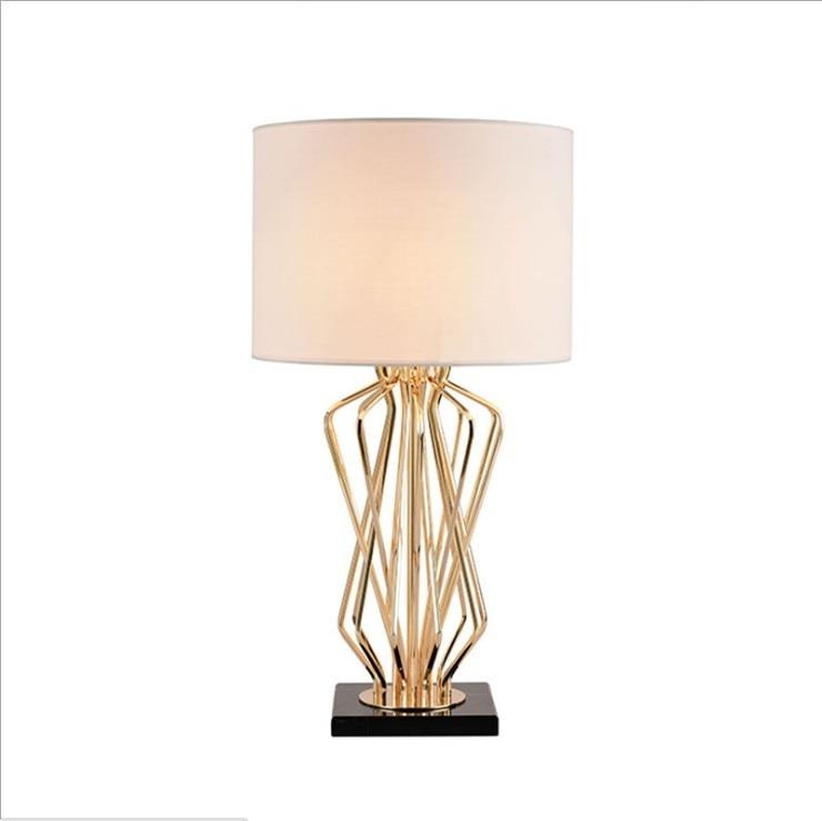Modern post-modern living room marble metal wind designer new classical model room study individuality desk lamp