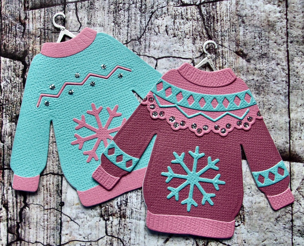 ZFPARTY  Cute Ugly Sweater Metal Cutting Dies Stencils For Scrapbooking/photo Album Decorative Embossing Paper Cards