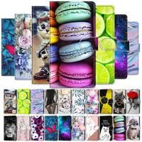 Leder Flip Fall Für Samsung Galaxy J3 J5 J7 2017 2016 Brieftasche Ständer Flip Phone Fall Für Funda Samsung J4 j6 Plus 2018 Coque