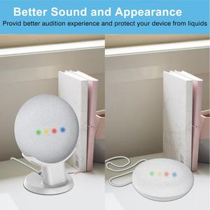 Image 4 - Desktop Stand For Google Home Mini Nest Mini Voice Assistants Compact Holder Case Plug in Kitchen Bedroom Study Audio Mount