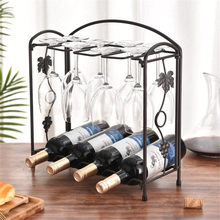 Wine Organizers Display Glass Holder Metal Bottle Rack Stand Bottle Storage Wine Organizer Wine Rack Wine Collection mettle horse drawn cart style wine bottle holder rack silver