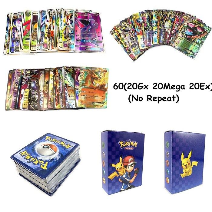 240 шт. держатель Альбом игрушки коллекции Pokemones карты Альбом Книга Топ загруженный список игрушки подарок для детей - Цвет: 60(20GX20EX20MEGA)