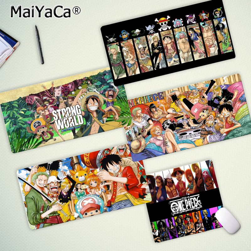 Maiya Hot Sales Anime Cartoon One Piece Rubber Mouse Durable Desktop Mousepad Free Shipping Large Mouse Pad Keyboards Mat