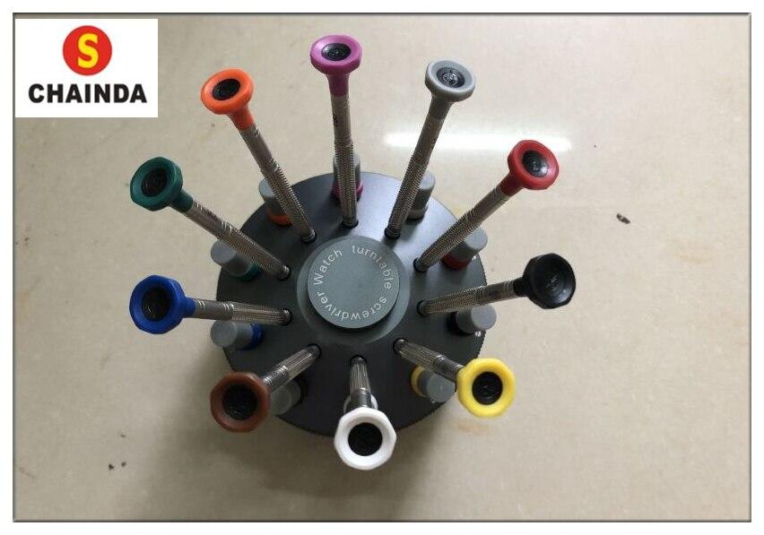 Cabeça de Borracha Chave de Fenda para Reparação de Relógio Frete Grátis Inoxidável Anti-skid Plana Assista 10 Pçs Aço