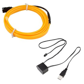 2M LED EL Light Neon Rope Car Dance Glow Light Strip + 3V/12V Controller USB Drive Car Decoration Light Car Styling Party Decor image