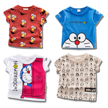 Baby Clothing children t shirts Jingle cat Print Kids Baby Boy Tops Short Sleeve T-Shirt Summer Tee