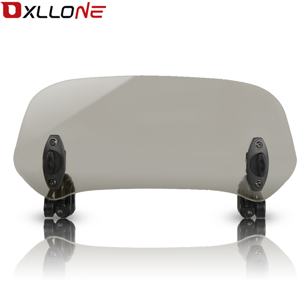 Motorcycle Universal Risen Adjustable Wind Screen Windshield Spoiler Air Clip On Windscreen Deflector FOR DUCATI 999 in Covers Ornamental Mouldings from Automobiles Motorcycles