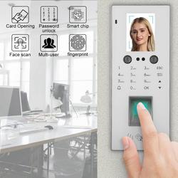 Zeit teilnahme 2.8in Farbe Bildschirm Access Control Face & Fingerprint & Passwort & Karte Zeit Teilnahme Maschine Weiß