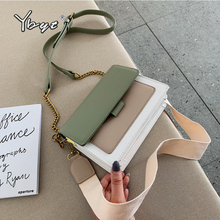 YBYT new wide shoulder strap crossbody bags for women fashion panelled flap bag luxury handbags designer