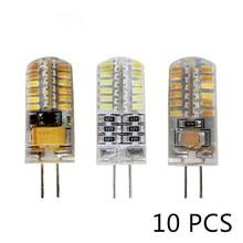 10 sztuk/partia G4 żarówka LED AC DC 12V 220V 3w 5w 6w wymienić 10w 20w 30w halogenowe światła 360 kąt wiązki G4 boże narodzenie LED lampy