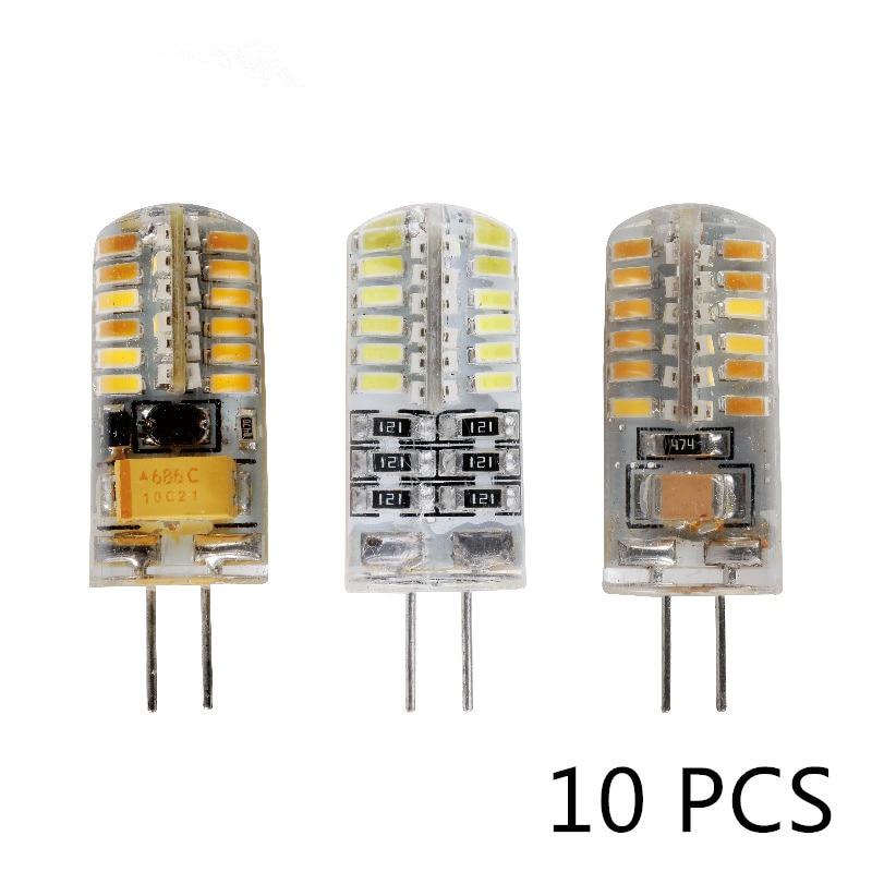 10pcs/lot G4 LED Bulb AC DC 12V 220V 3w 5w 6w Replace 10w 20w 30w Halogen Light 360 Beam Angle G4 Christmas LED Lamps