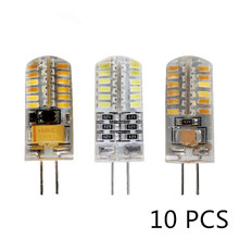 Lote de 10 unidades de bombillas LED G4 de CA, 12V, 220V, 3w, 5w, 6w, recambio de 10w, 20w, 30w, luz halógena, Ángulo de haz de 360, G4, lámparas LED de Navidad