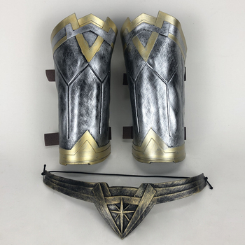 Wonder Woman Diana Prince Cosplay Armband Gauntlet and Tiara Headband Crown Wrist Superhero Accessories Props Halloween