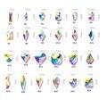 100 шт AB прозрачные стразы 4-10 мм дизайн ногтей форма Топ кристалл AB чешские хрустальные стразы с плоской задней частью удлиненные стеклянные ...