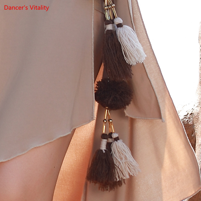 Belly Dance Belt Lengthening Fabric Tassel Waist Chain Special Wild Waist Chain New Dance Dance Accessories