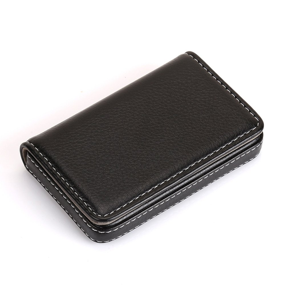 Portable Mini Magnetic Design Card Holder Bag Business Card Package PU Leather Cards Case
