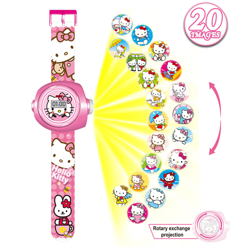 Girls Watch Kids Children Watch Cartoon Toys Watch Girls Boys Rubber Digital Electronic Watch Baby Gift Relogio Infantil