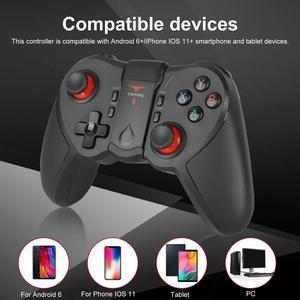 New Wireless Gamepad Wireless Joystick Game Controller Bluetooth 4.0 Joystick For Android iOS Mobile Phone Tablet TV Box Holder