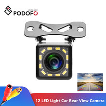 Podofo 12 LED Light Night Vision Car Rear View Camera Universal Backup Parking Camera Waterproof 170 Wide Angle HD Color Image