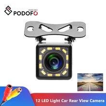 Podofo 12 led 라이트 나이트 비전 자동차 후면보기 카메라 범용 백업 주차 카메라 방수 170 와이드 앵글 hd 컬러 이미지