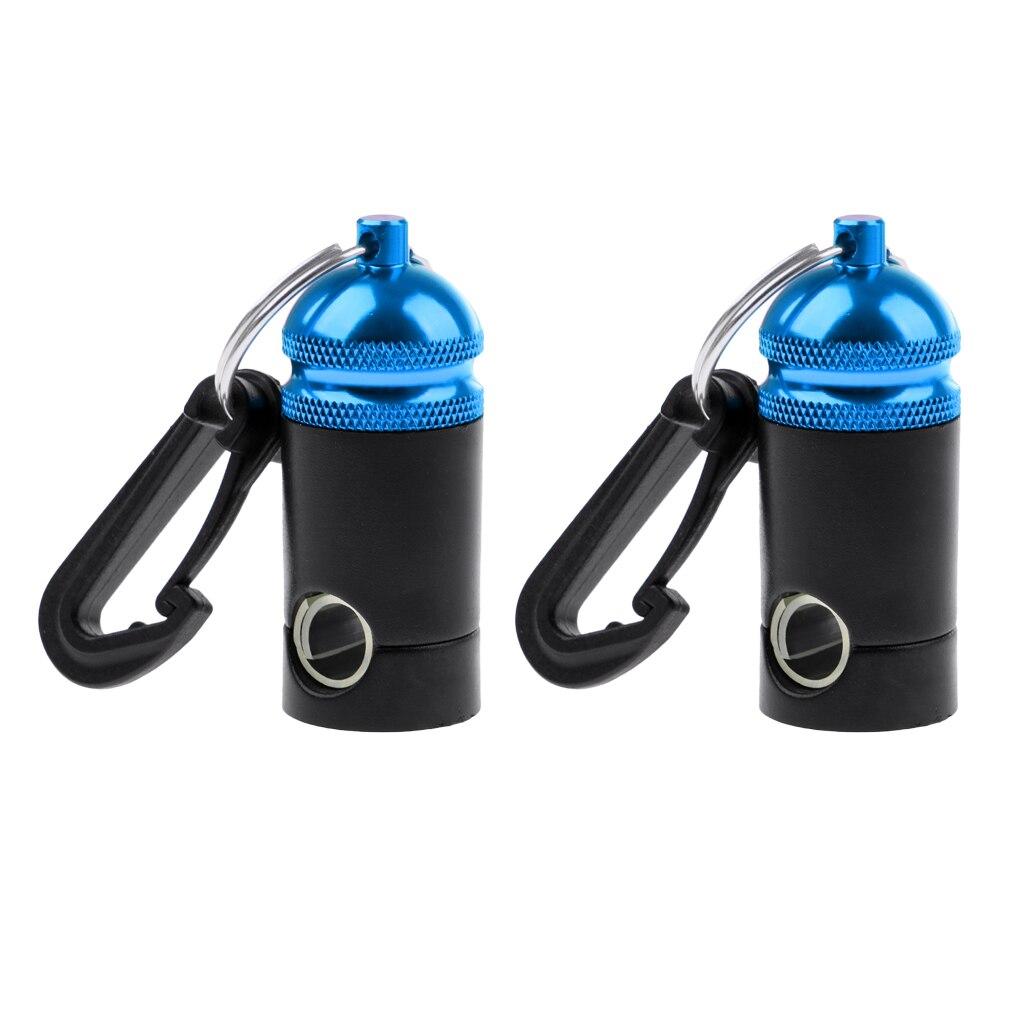 2 Pieces Premium Scuba Diving Regulator Octopus Hose Holder Keeper Clip - Blue Black